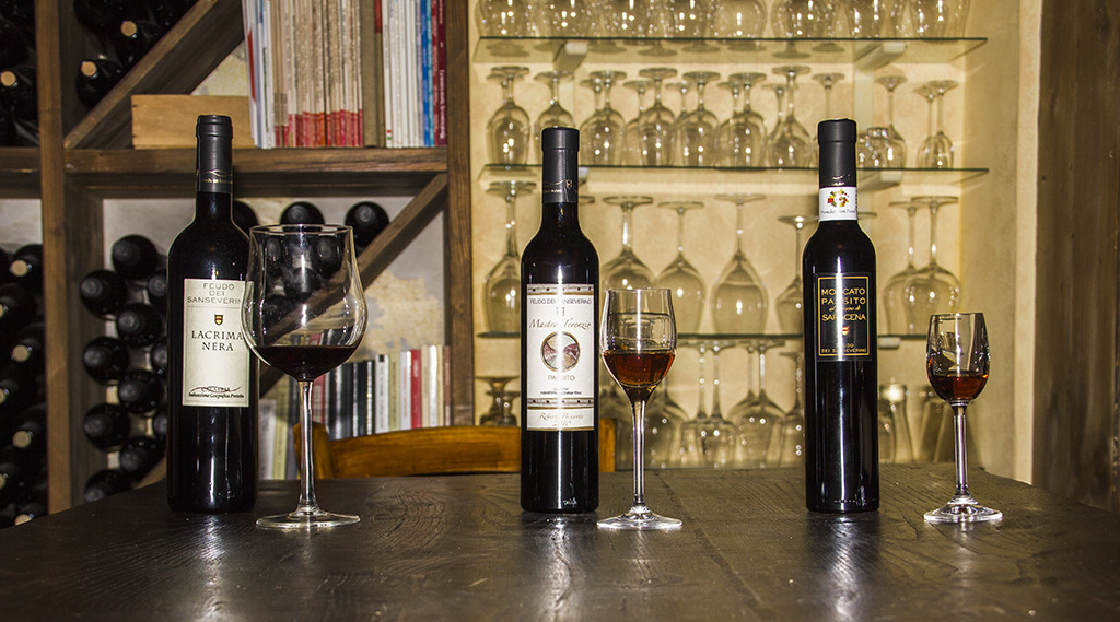 Wines and passito from Feudo di SanSeverino