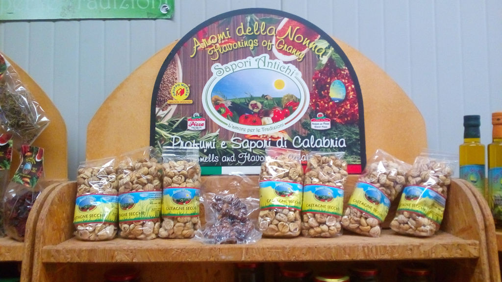 chestnut and other traditional Calabrian products