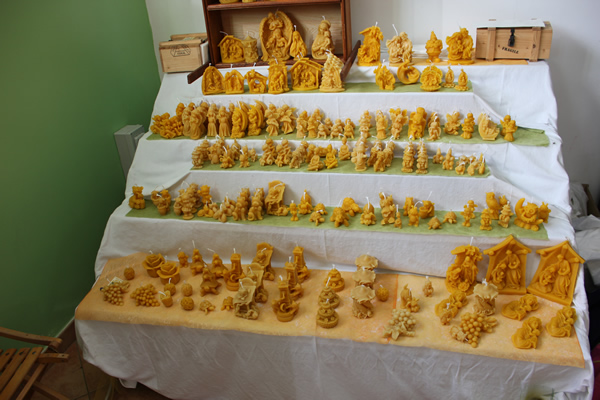 Honey products beeswax figurines